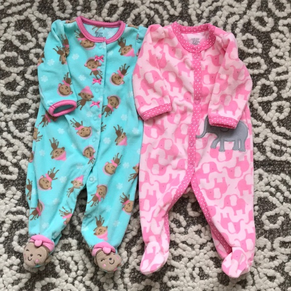 Carter's Other - 3 bundle of 3 mo fleece button up onesies